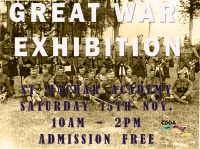 Poster advertising the Great War Exhibition at St Machar Academy, Saturday 15th November 2014