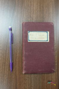 St Wilfrid's The WW1 Intercession notebook: <br/><br/>Cover 'St Wilfrid's Roll of Honour/Roll of Sacrafice'.